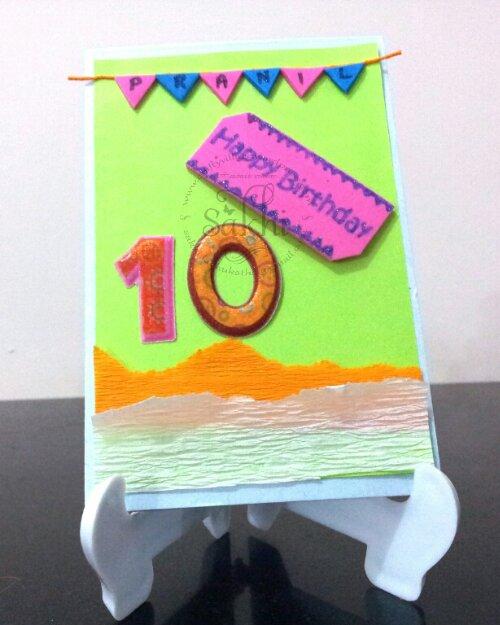 Birthday Card For 10 Year Old Boy Sakhi's Crafty Village