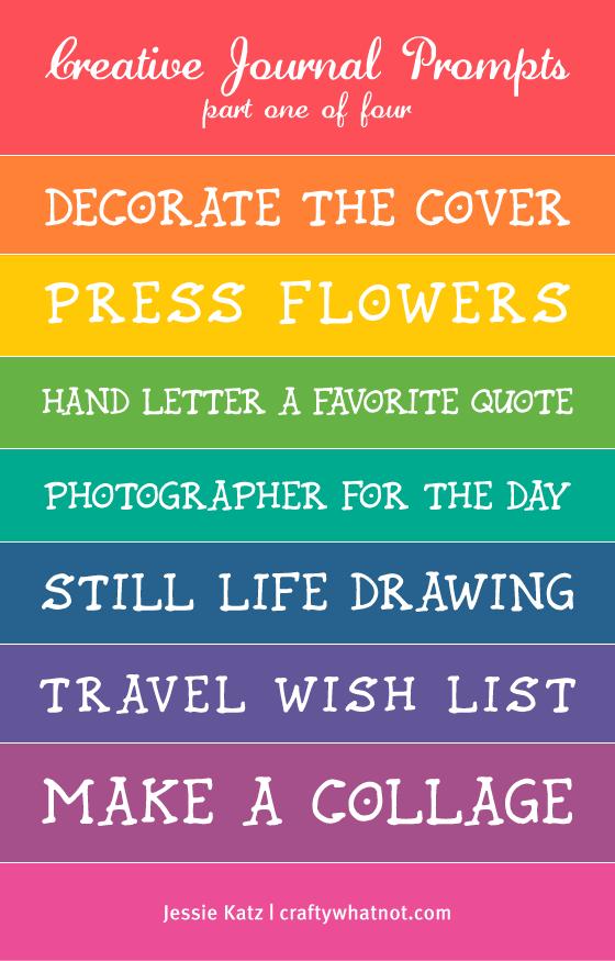 List Of Art Journal Prompts