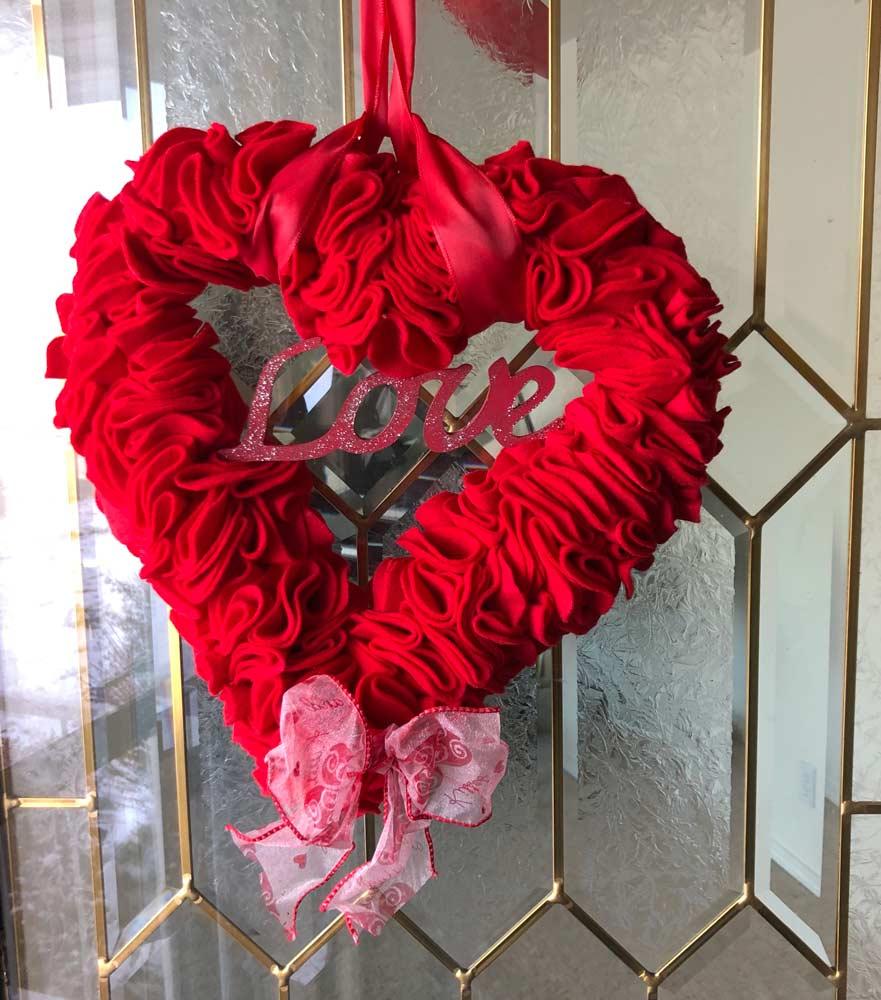 Valentine's Day Heart door wreath