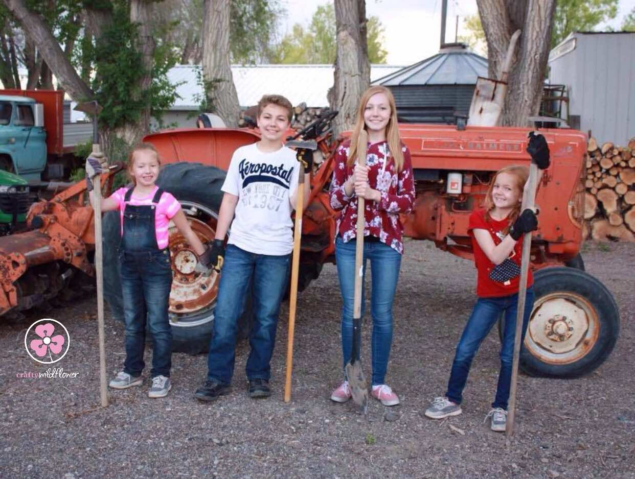 Family Friday - Growing Kids and a Garden