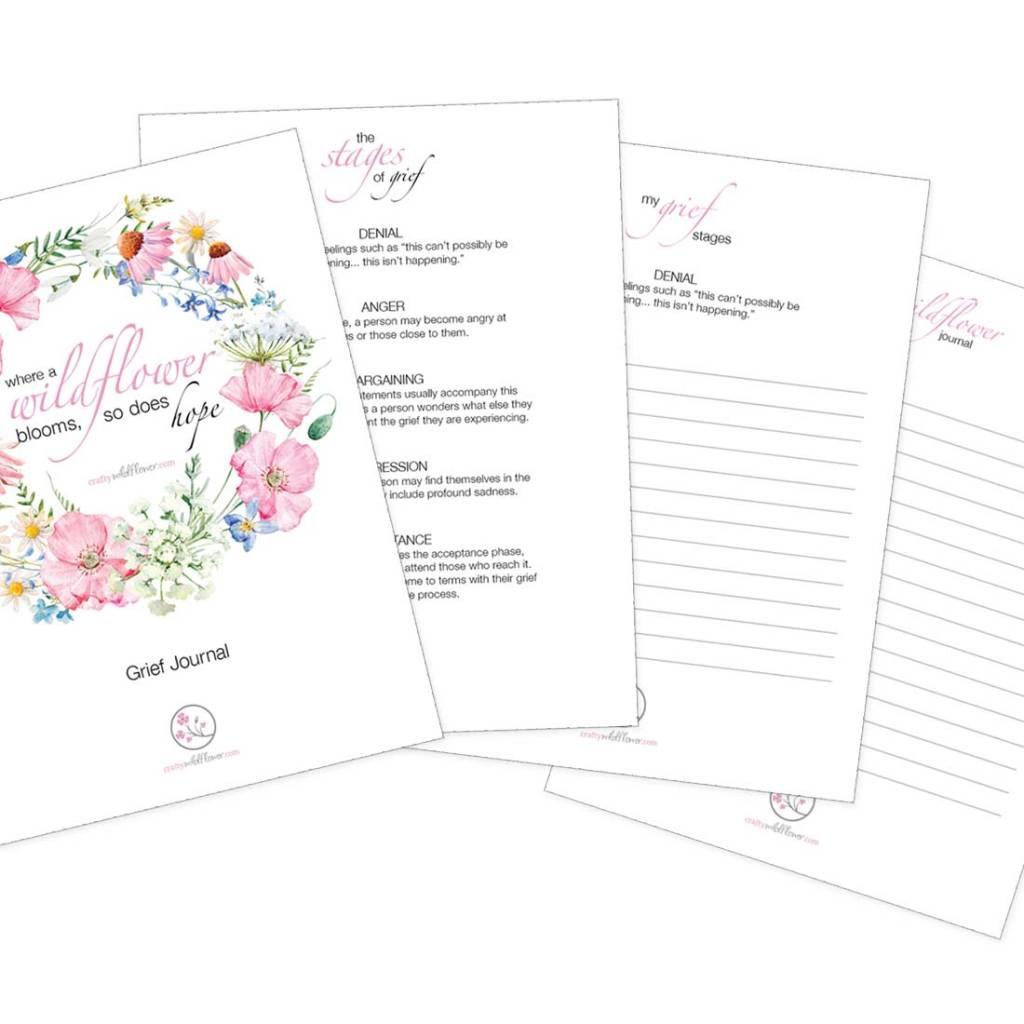 Crafty Wildflower Grief Journal