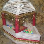 How to make Popsicle stick Beautiful SHIP with lord krishna in it..!