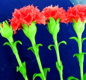 How to make Carnation flowers using clay