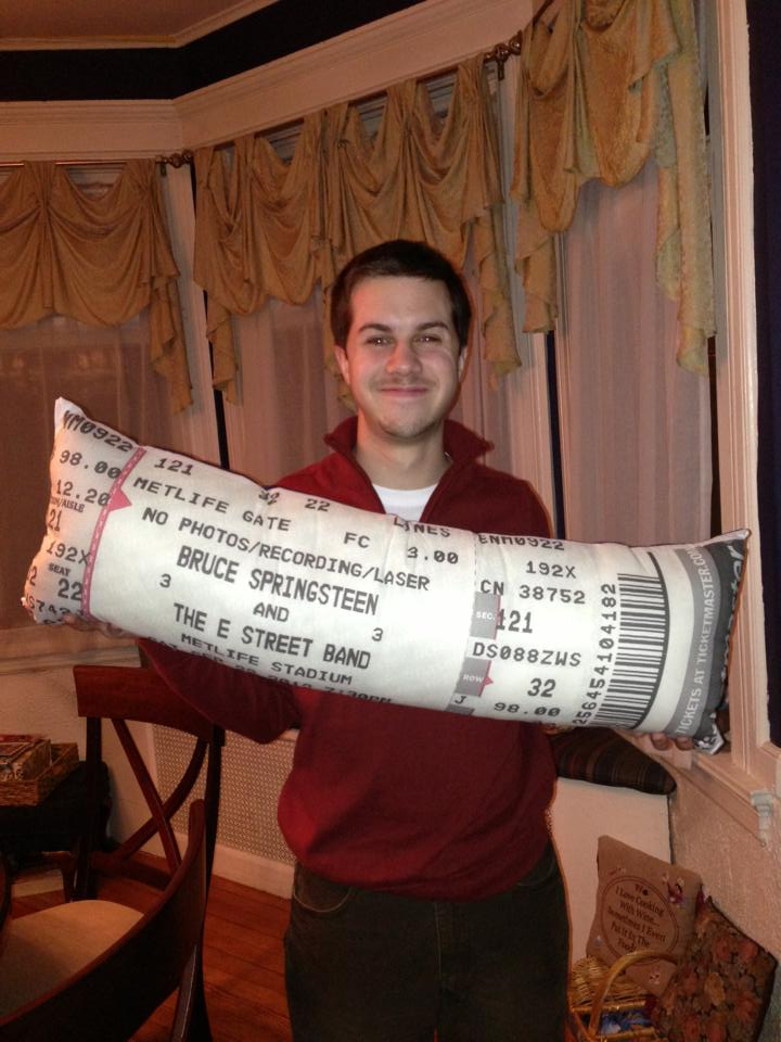 concert ticket pillow craftzinga