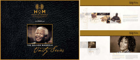 Layout and Design for the digital artist directory and guide for The Nelson Mandela Unity Series