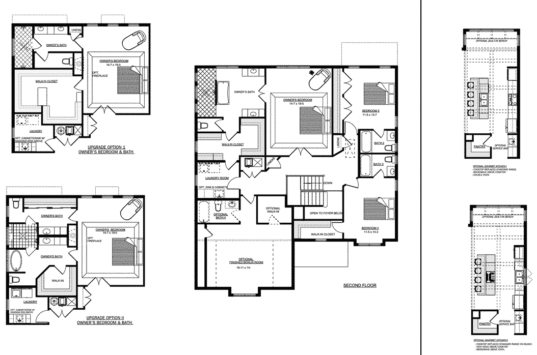 Second floor plan for the Lynnhaven home plan from Craig Builders.