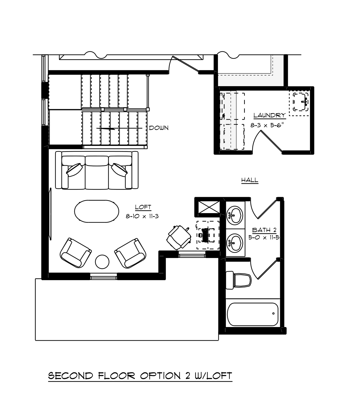 Stockton Second Floor Loft Layout