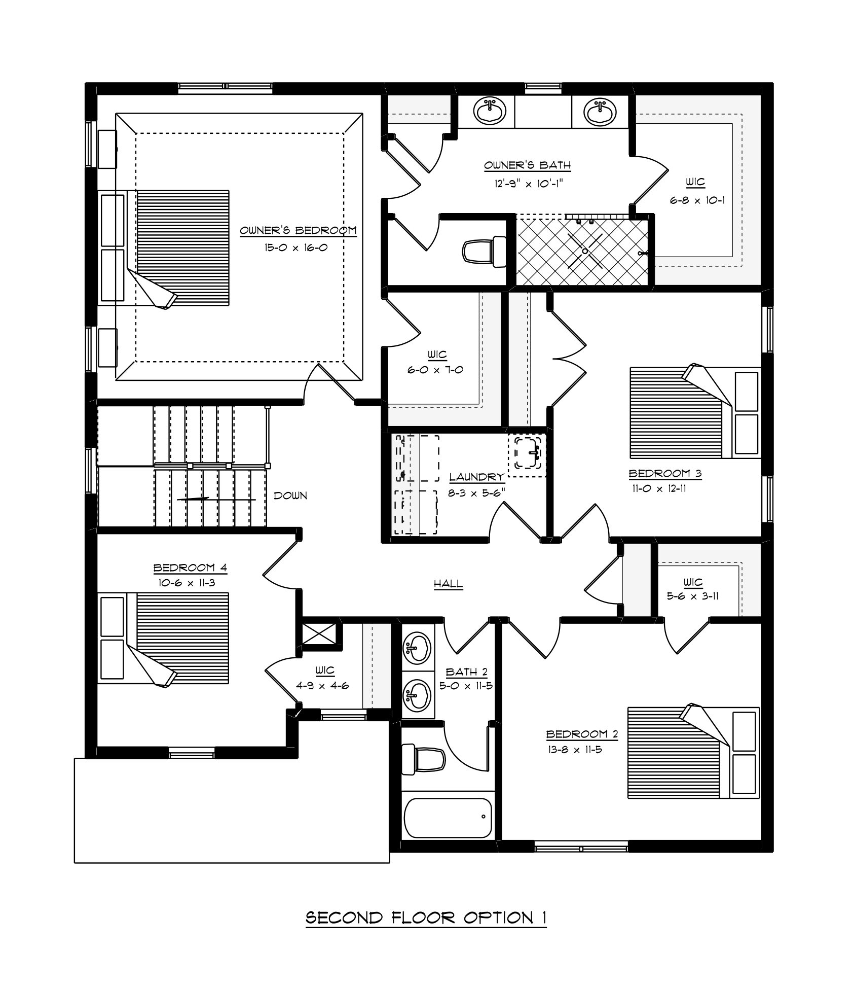 2nd Floor Plans of the Stockton built by Craig Builders