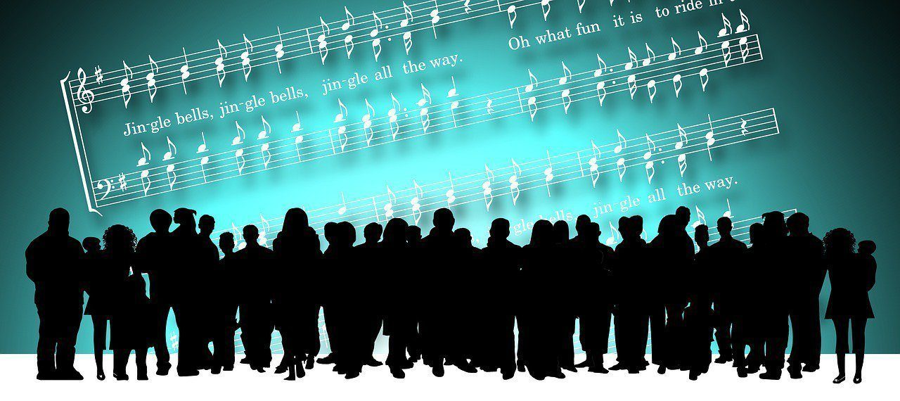 people singing graphic