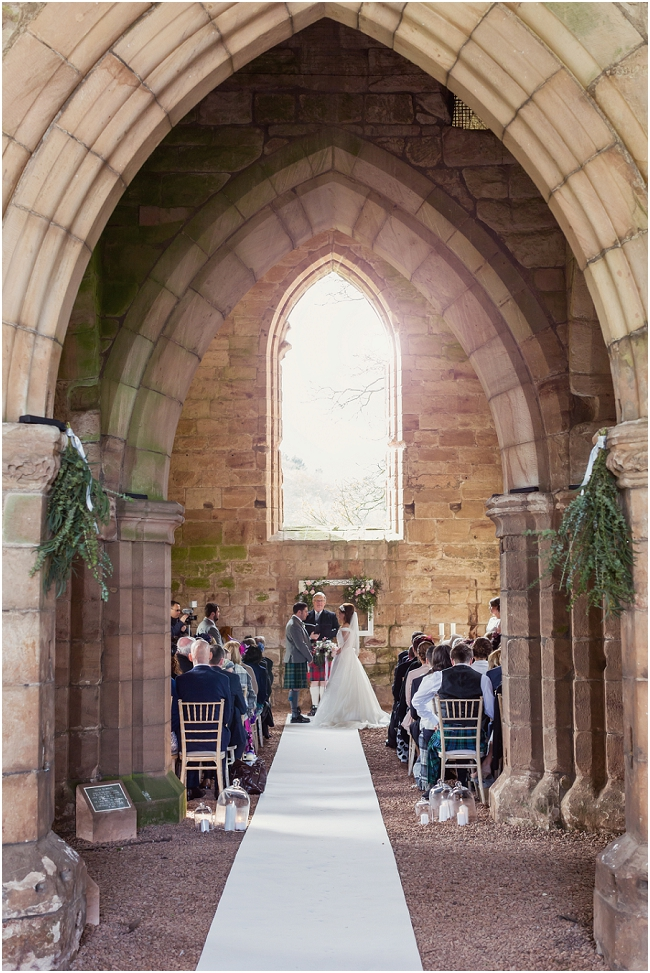 Dunglass estate church ruins wedding