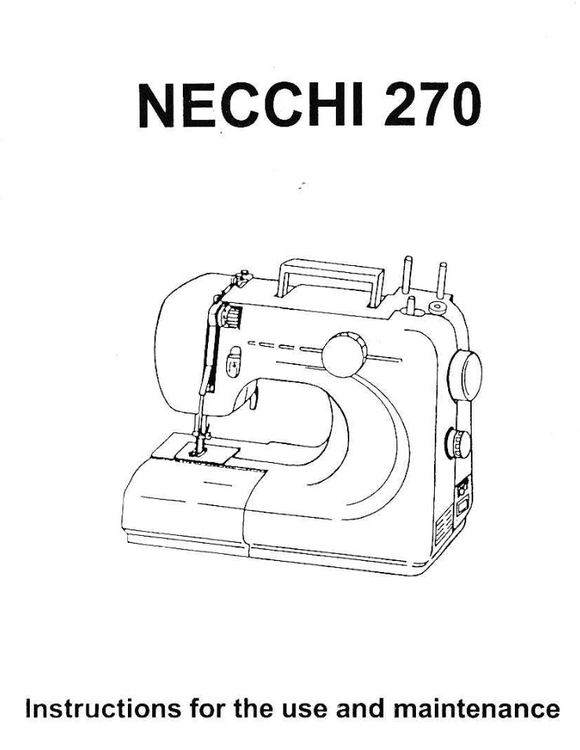 Free necchi sewing machine manual download fa