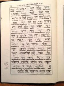 Sample Page: Interlinear Psalter