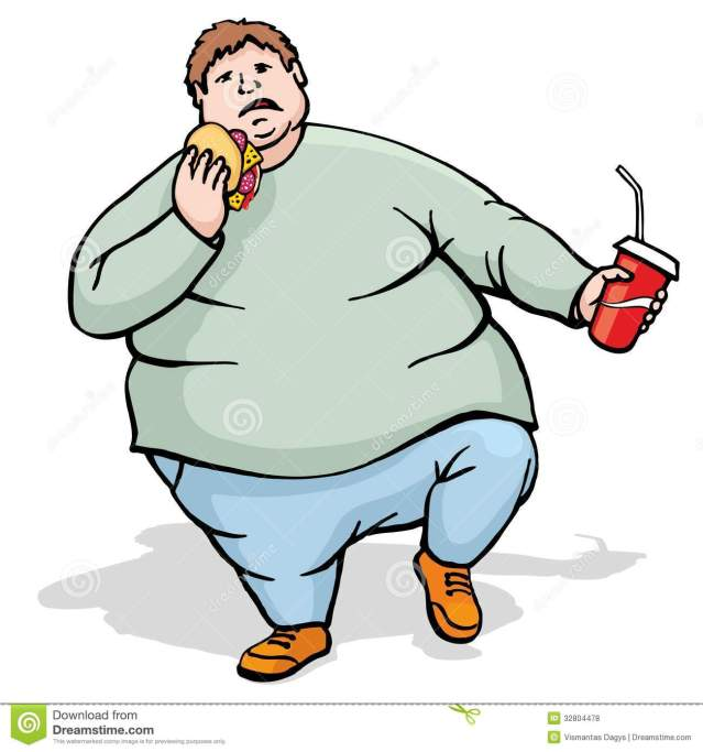 fat-man-walk-and-eat-royalty-free-stock-photos-image-32804478-ifQDE6-clipart
