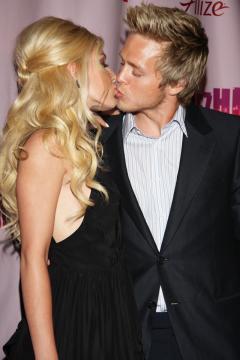 Heidi and Spencer smooching at Perez Hilton's 31st Birthday Bash