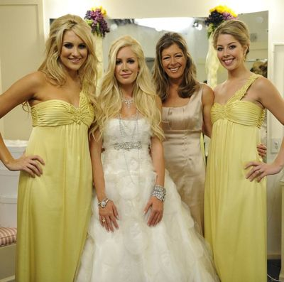 The Bridal Party: Stephanie Pratt, Heidi Montag, Mrs. Montag, and Holly Montag