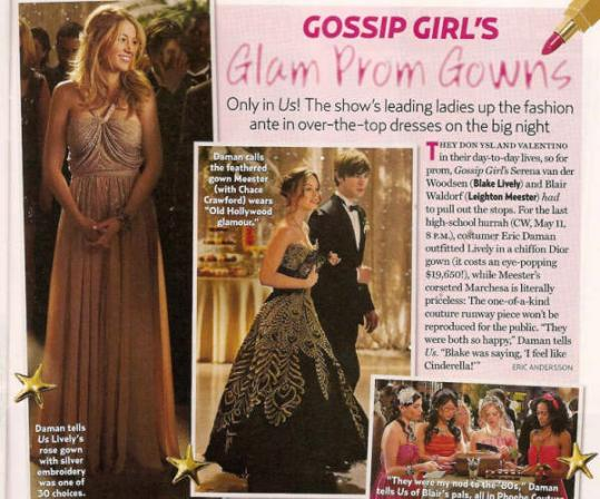 Gossip Girl Prom Spread from Us Weekly