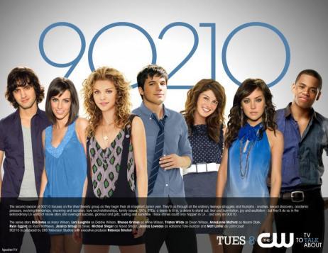 Michael Steger (Navid), Jessica Lowndes (Adrianna), AnnaLynne McCord (Naomi), Matt Lanter (Liam), Shenae Grimes (Annie), Jessica Stroup (Silver), and Tristan Wilds (Dixon)