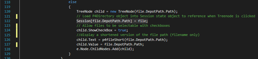 An example of how I set session state in the app