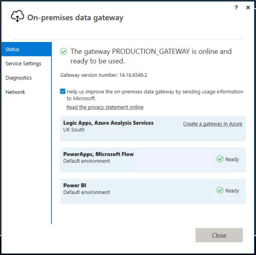 Power BI Data Gateway Configuration