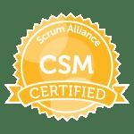 Certified Scrum Master badge