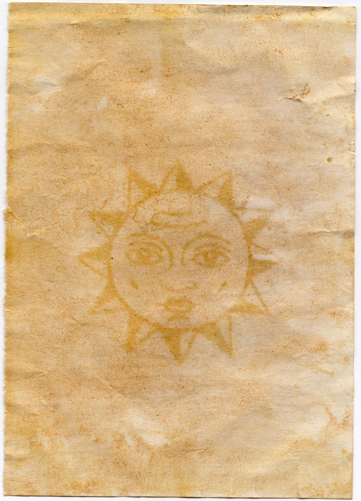 Sun Sketch Anthotype/ Tumric Light Sensitive Paper