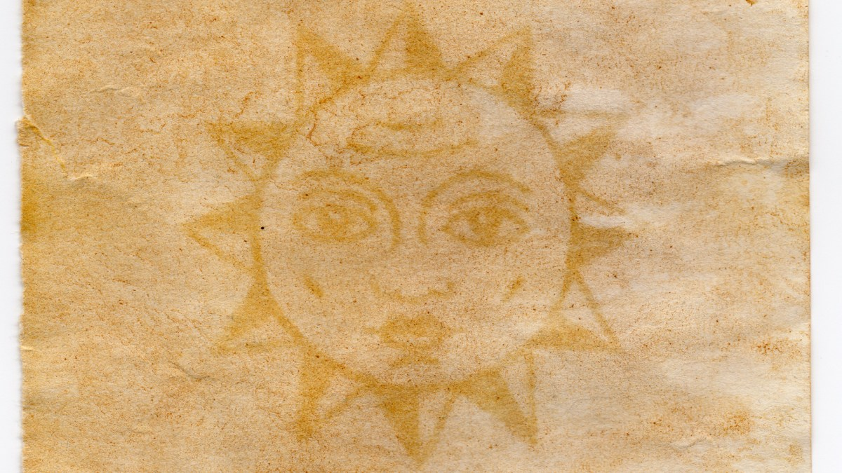 Sun Anthotype. Tumric Photo Paper