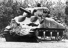 Dummey Sherman tank