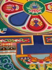 Close-up, showing detail and bas relief on the mandala. — at Coral Springs Center For The Arts.