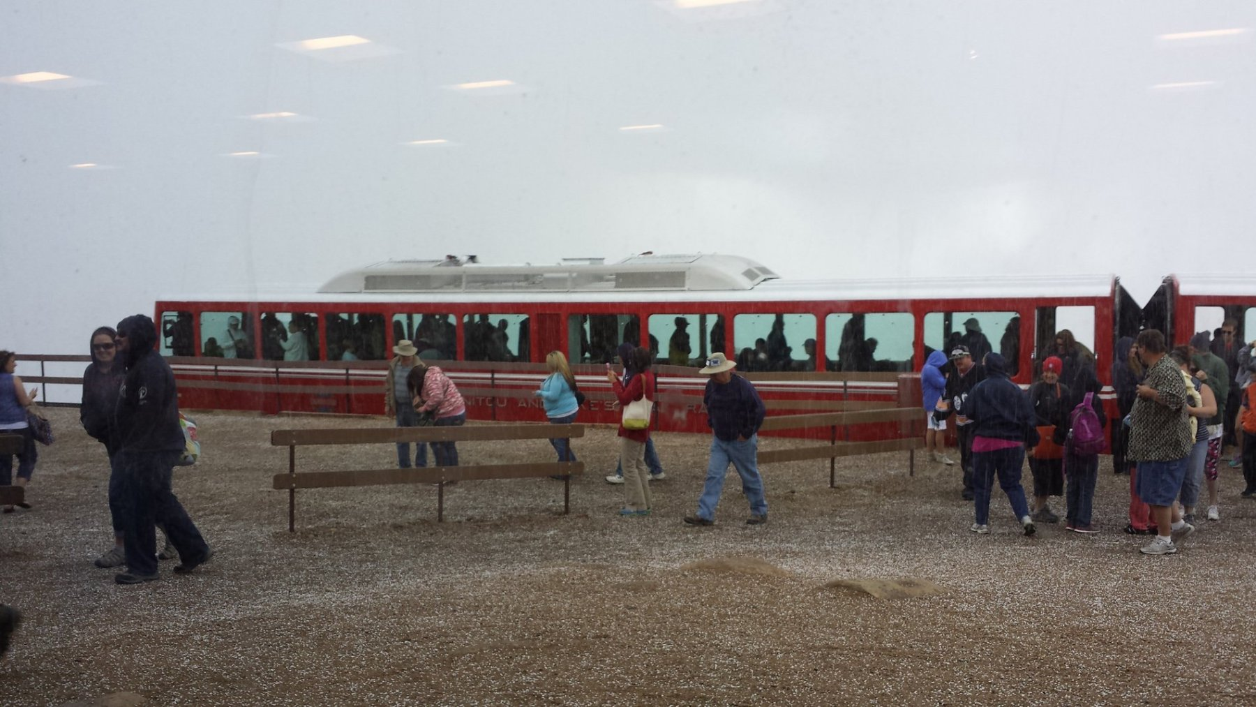 The Pikes Peak Cog Railroad is the alternative to driving to the summit. It takes about three hours.. Craigslegz.com