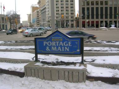 Portage and Main, Winnipeg.