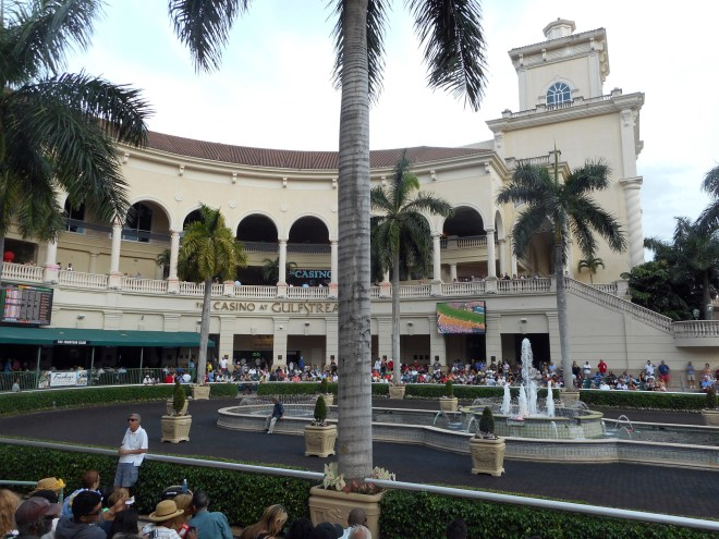 Gulfstream Park has ambience and mint juleps. All that is missing on Kentucky Derby Day are the horses. (Craigslegz.com)