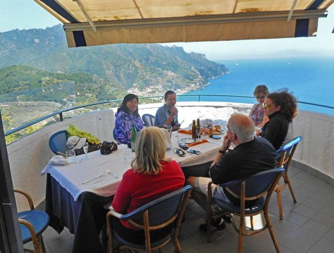 The food is exquisite and the view is even better at Al Ristoro del Moro at Ravello. Craigslegz.com