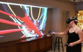 Virtual reality enabled visitors to create their own art on the Fort Lauderdale tour. (Craig Davis/Craigslegz.com)