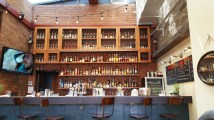 Plenty of room at the bar at The Eating Establishment in Park City during the offseason. (Craig Davis/Craigslegztravels.com)