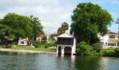 Some of the priciest homes in Central Florida are on the shores of the lakes visited by the Winter Park Scenic Boat Tour. (Craig Davis/Craigslegztravels.com)