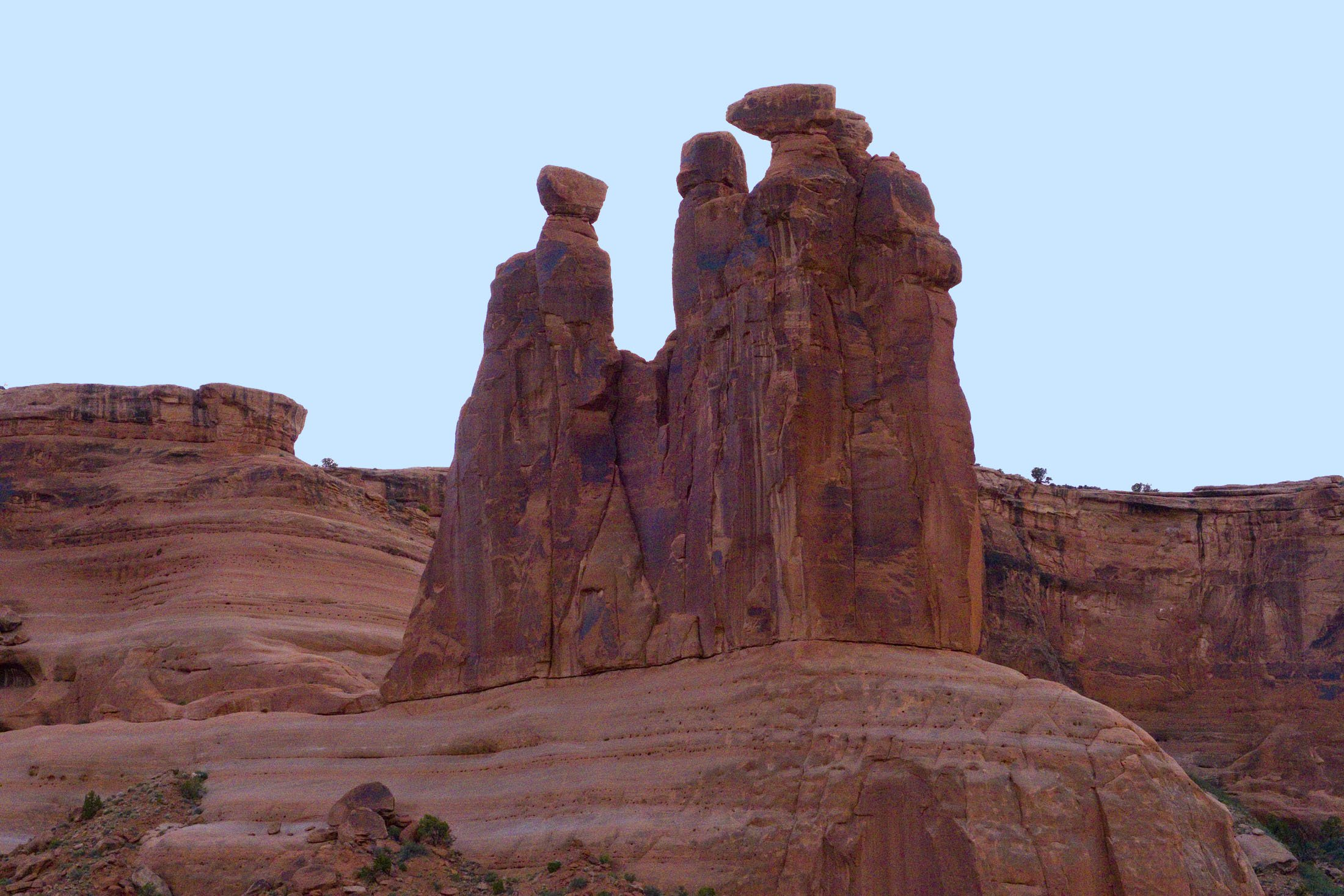 The Three Gossips is among the unique formations that have been given names at Arches National Park. (Craig Davis/Craigslegztravels.com)