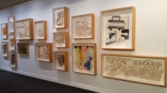 Frank Stella's working archive is on display at NSU Art Museum Fort Lauderdale. (Craig Davis/Craigslegztravels.com)