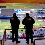 New York's finest keep watch before a game at Yankee Stadium. (Craig Davis/Craigslegztravels.com)