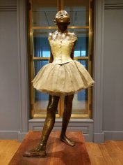 "Edgar Degas' ""Little Dancer Aged Fourteen"" received mixed reviews when it debuted in 1881. The sculpture is on display at the Clark Insitute of Art in Williamstown, Mass. (Fran Davis/CraigslegzTravels.com)"