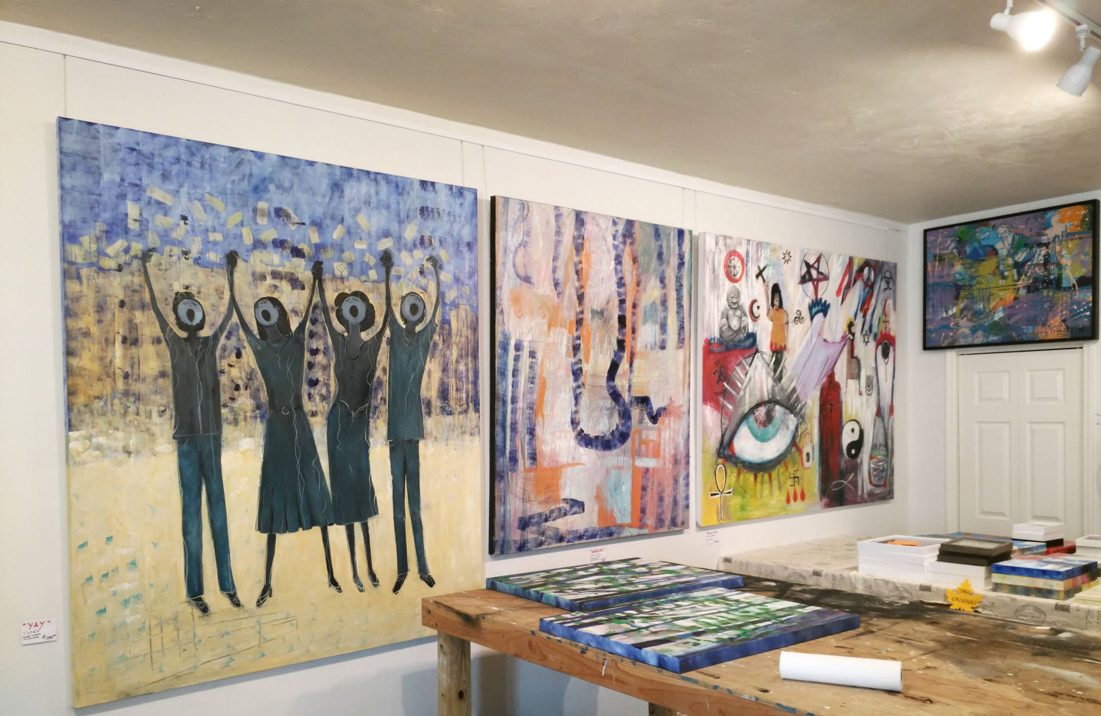 Renee Falsetto's Art Studio combines display space with work space. (Craig Davis/Craigslegztravels.com)
