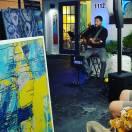 Talented South Florida musician G Sparticus performed at the grand opening of Renee Falsetto's Art Studio. (Fran Davis/Craigslegztravels.com)