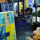 Talented South Florida musician G Sparticus performed at the grand opening of Renee Falsetto's Art Studio. (Fran Davis/Craigslegztravels.com)