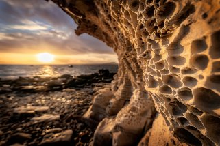 The Honeycomb Rock Cliff is an often-photographed feature at Elgol on the Isle of Skye. (Glenn Davis/Glenndavisphotography.com)