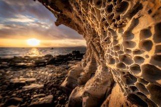 The Honeycomb Rock Cliff is an often-photographed feature at Elgol on the Isle of Skye. (Glenn Davis/Glenndavisphotography.com)