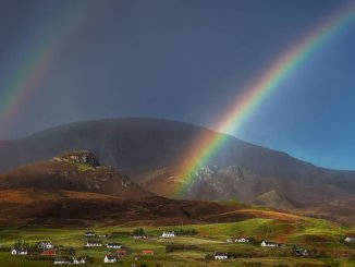 A double rainbow over the Isle of Skye in Scotland. (Glenn Davis/Glenndavisphotography.com)