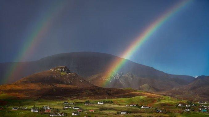A double rainbow over the Isle of Skye in Scotland. (Glenn Davis/Glenndavisphotography.com)