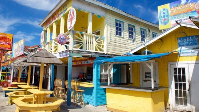 The Fish Fry district near Nassau is popular with tourists but has also been the subject of travel warnings.