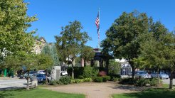 The band stand is another Chagrin Falls landmark in the central square downtown. (Craig Davis/Craigslegztravels.com)