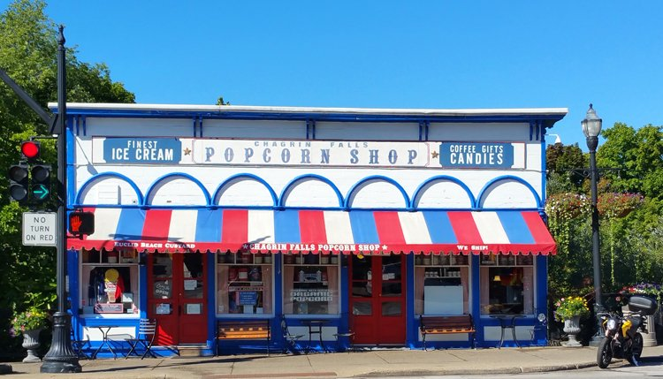 The Chagrin Falls Popcorn Shop is an iconic landmark which dates to 1875. (Craig Davis/Craigslegztravels.com)