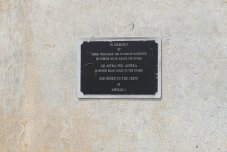 A simple brass plaque marks the site where the Apollo 1 astronauts died in a fire in January 1967. (Craig Davis/Craigslegztravels.com)